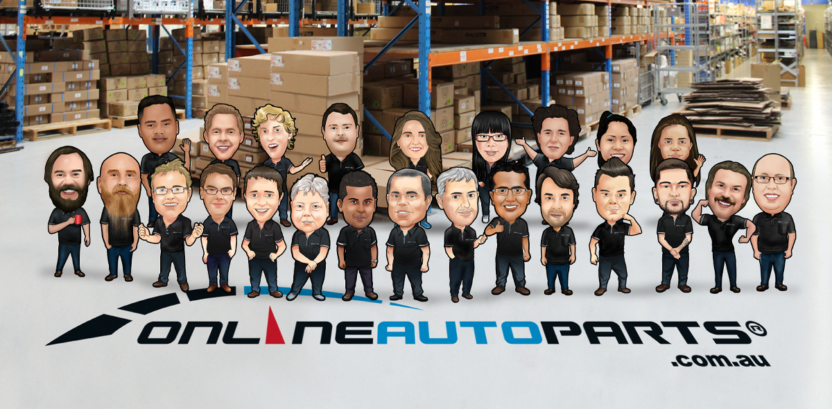 OnlineAtoParts team in warehouse
