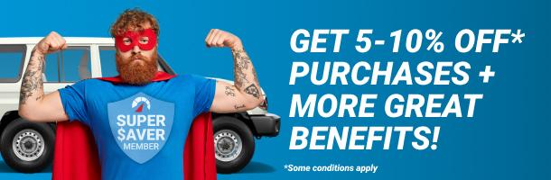 Become a super saver member for free