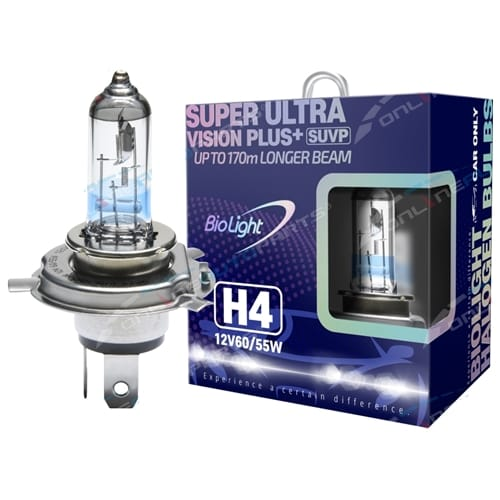 2x H4 12 volt 60/55w High/Low Beam Head Light Bulbs Icy Blue Bright White Vitara