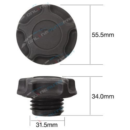 TOC534 - Engine Oil Cap Plastic screw (fine thread) - Tridon