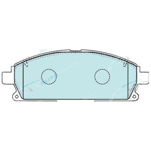 Front Disc Brake Pad Set Bendix Nissan T30 XTrail 2001-2007 X-Trail 4x4 4wd Wagon