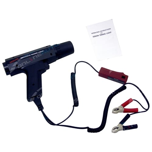Bright Xenon Inductive Timing Light with Advance 12 volt Distributor Tune Up Tool - Trisco