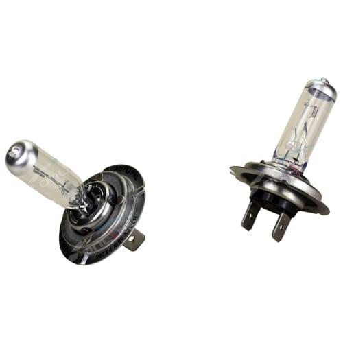 2 x Super White H7 55w Halogen Headlight Bulbs