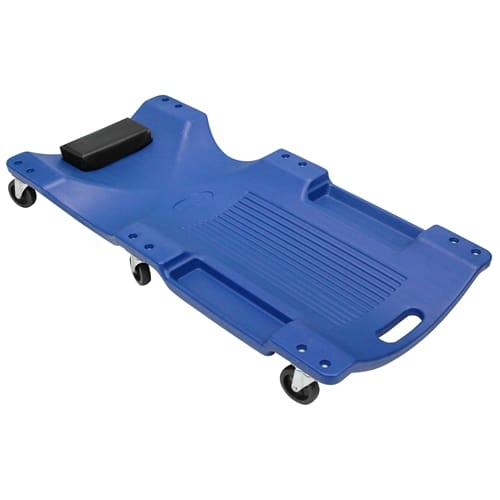 Garage Creeper Mechanic Workshop Trolley Swivel Wheels Castor Car Roller Blue 6 Castor - 120kg Rated - 40' (100cm) Length