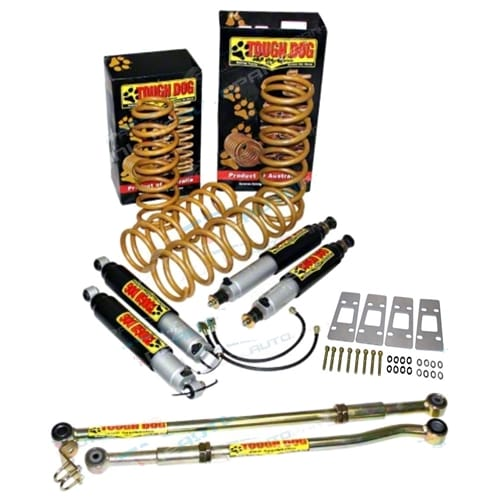 TDLKITGQGU5 4X4 Shock Absorber + Coil Spring Lift Tough Dog suits Nissan Patrol GQ Y60