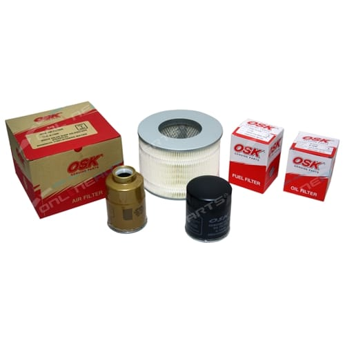 Air Oil Fuel Filter Service Kit suits HZJ105 1HZ Diesel 4.2 100 105 Series
