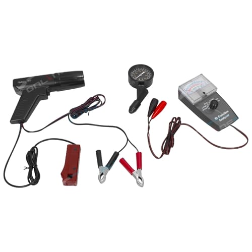 New 3 Pce Engine Tune Up Kit Xenon Timing Light New Compression Tester + 6 Function Analyser Tool