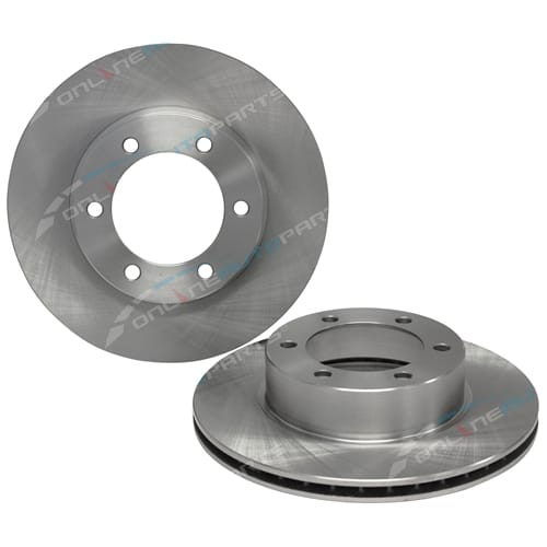 2 New Front Disc Brake Rotors suits Toyota Prado 90 95 Series VZJ95 KZJ95 RZJ95 4x4 Land Cruiser 1996 to 2002
