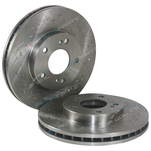 Set 4 Brake Rotors Nissan 200SX S14 S15 Silvia 2.0 Front + Rear Slotted + Drilled Discs incl Turbo