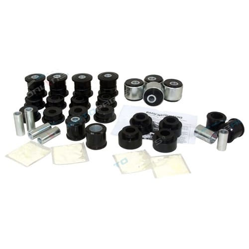 Suspension Arm Poly Bush Kit Nissan Patrol GU Y61 w/Castor Correction Front + Rear GR Safari 1997-00