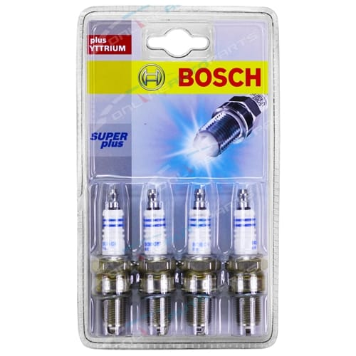 Set of 4 Bosch Spark Plugs Barina SB 1994-1997 4cyl C12NZ 1.2L 1196cc + 4cyl C14NZ 1.4L 1389cc