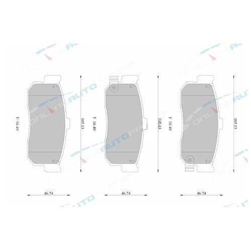 Bosch Rear Disc Brake Pad Set suits Nissan Cefiro Maxima A32 A33 VQ30DE 3.0L 1995 1996 1997 1998 1999 2000 2001