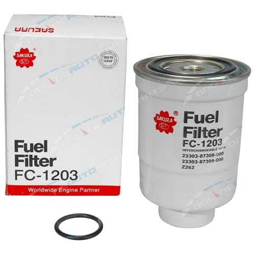 Sakura Diesel Fuel Filter suits Ford Courier PB 4cyl 2.2L S2 2209cc 1981 1982 1983 1984 1985
