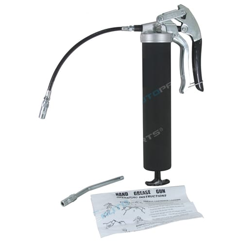 Grease Gun Manual Pistol Grip Dual Flow Pressure 10,000psi Industrial High Quality Tool +Flexi Hose