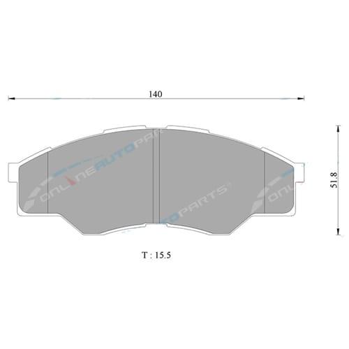 DB1741BL Bosch Disc Brake Pad