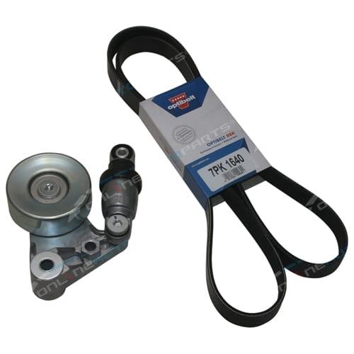 Drive Fan Belt Tensioner Assembly Patrol GU ZD30 3.0L 2000 to 1/2007 Nissan Optibelt