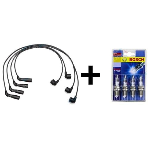 Ignition Spark Plug Lead Set + Spark Plugs Bosch