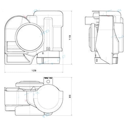 Stebel Nautilus Chrome Compact Car Bike Air Horn 139dB Super Chromed Nova 12volt