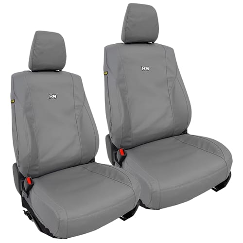 Front Canvas Car Seat Covers suits Ford Ranger PX / Mazda BT50 UP UR Set Pair 2015 2016 2017 2018 2019