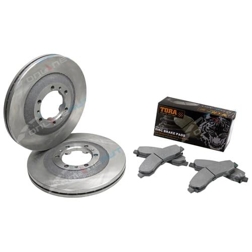 2 Front Disc Rotor + Brake Pad V200 V240 X240 Great Wall K2 CC 2009-2014 RWD 4X4 - Set
