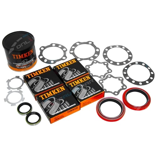 Timken Front Wheel Bearing Hub + Axle Seal Kit suits Toyota Landcruiser 9/75~89