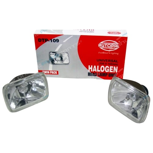 Multi Reflective Lense 200mm x 142mm H4 Conversion Headlight Head Lamp Set of 2