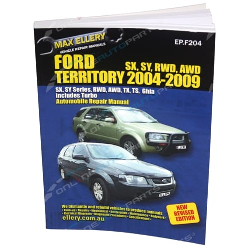New Workshop Repair Manual Book Ford Territory 2004-2009 RWD AWD 4x4 SX SY TS TX