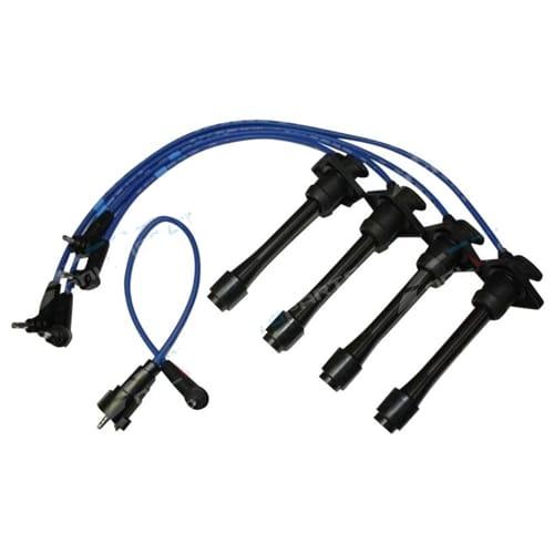 NGK Ignition Spark Plug Lead Set suits Toyota Starlet GT EP82 4E-FTE 1.3L 4cyl 1990 1991 1992 1993 1994 1995