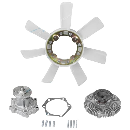 Water Pump Fan Clutch & Blade suits Toyota Hilux LN85R 4cyl 2.4L 2L-II Diesel 1989 1990 1991 1992 1993 1994