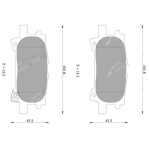 Rear Disc Brake Pads Set suits Lexus RX330 RX350 RX400 MCU38 GGL15 GSU35 MHU38 2004 2005 2006 2007 2008 Bosch