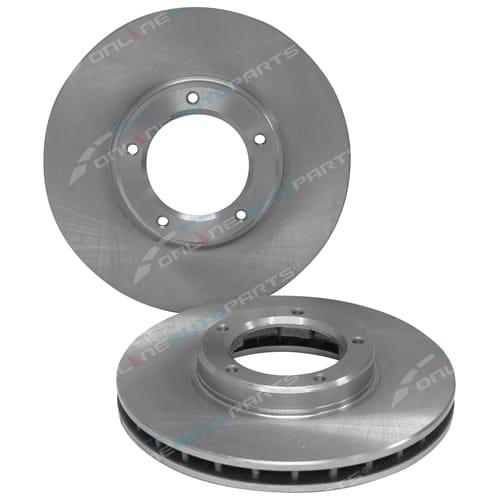 2 Disc Brake Rotor suits Toyota Hilux 2wd 97-02 RZN147 RZN149 LN147 LN149 LN152 LN156