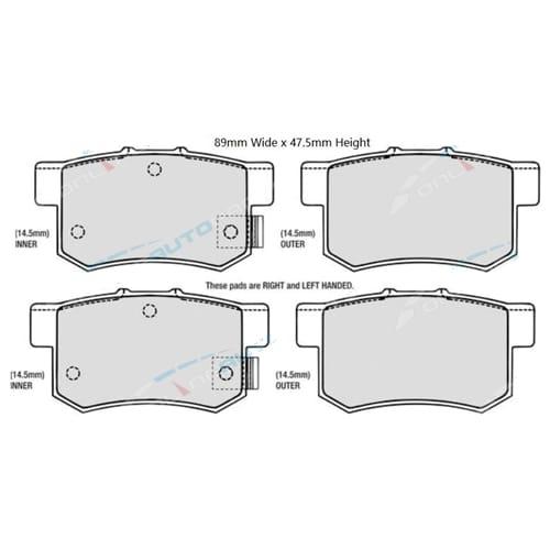 Rear Disc Brake Pad Set for Suzuki Swift RS416 2006 to 2010 FWD EZ Sports Bosch