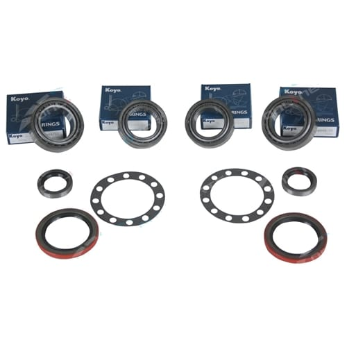 KOYO Twin Pack Rear Wheel Bearing Kit suits Landcruiser 79~07 with Drum Brakes