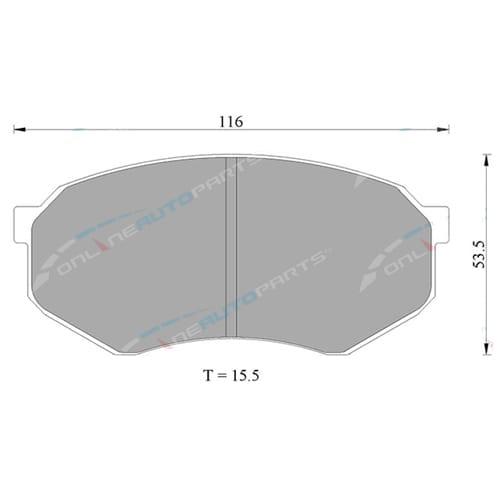 Disc Brake Pad Set (Front) Tora