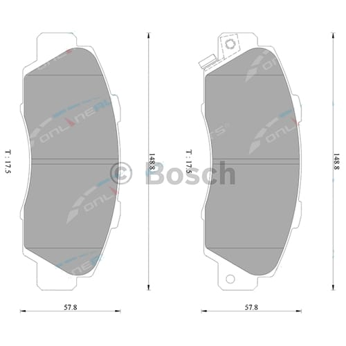 ZPN-17757 Disc Brake Pad Bosch suits Honda Accord CG CG5