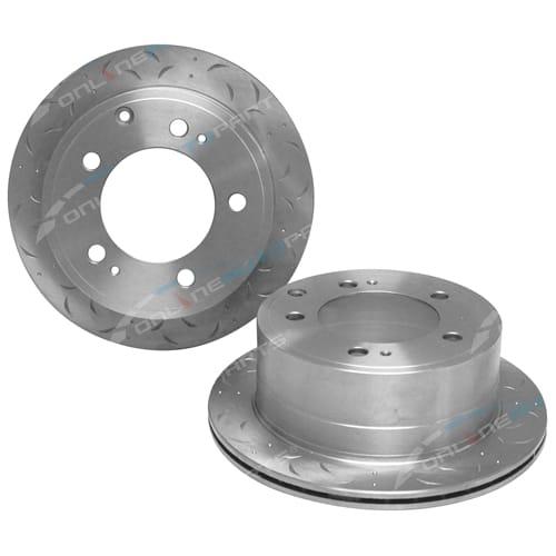 2 Rear Disc Brake Rotors suits Toyota Landcruiser V8 Diesel VDJ76 VDJ78 VDJ79 Ute 2007-2013