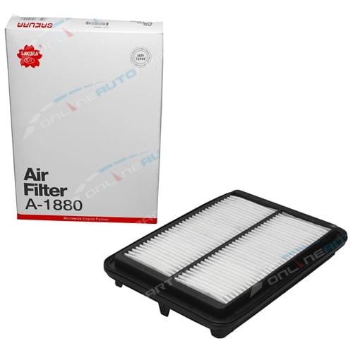 Sakura Air Filter Cleaner for Nissan Navara D40 4cyl YD25DDTi 2.5L 2488cc Engine 2008 2009 2010 2011 2012 2013 2014 2015