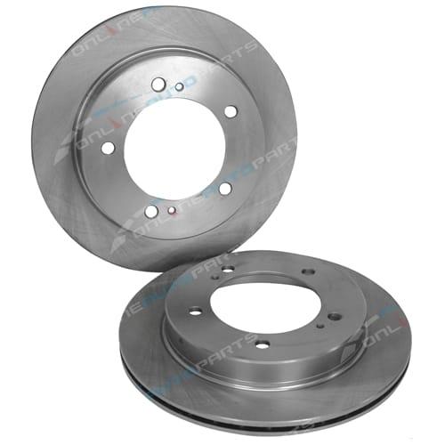 2 Front Disc Brake Rotors for Suzuki Vitara LWB Estate 4cyl 4x4 SE416 1991 1992 1993 1994 1995 1996 1997 1998