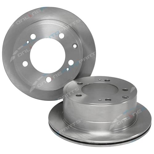 2 Rear Disc Rotors suits Toyota Landcruiser VDJ76 VDJ78 VDJ79 4X4 V8 Diesel Ute - Pair Brakes 2007 to 2013