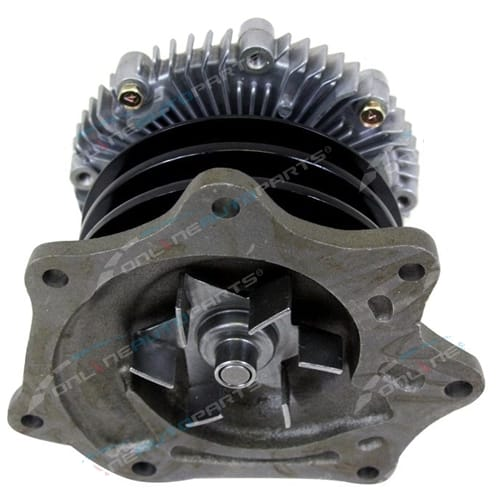 Water Pump suits Nissan Navara TD25 Engine D21 Twin Pulley with Fan Clutch Ute 1988 1990 1991