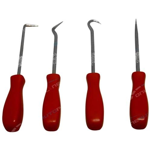4 piece O-Ring Hook & Pick Tool Set Kit - Brand New