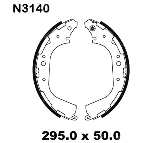 Rear Brake Lining Shoe Set fit Navara D21 D22 4wd 10/1989-2014 4x4 Nissan Ute Drum Pads
