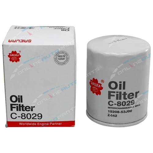 Sakura Engine Oil Filter suits Nissan 180SX S13 4cyl 2.0L SR20DE SR20DET 1998cc 1992 1993 1994 1995 1996 1997