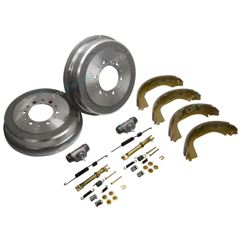 Brake Drums Shoes Wheel Cylinders Kit suits Toyota Hilux LN167 LN172 1997~05 4X4