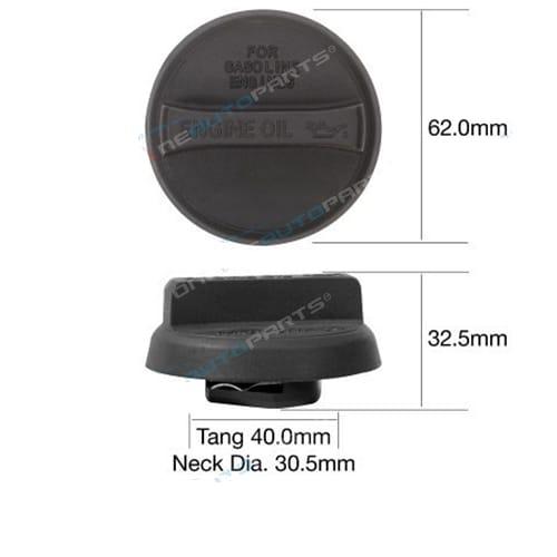 TOC532 - Engine Oil Cap Plastic bayonet - Tridon