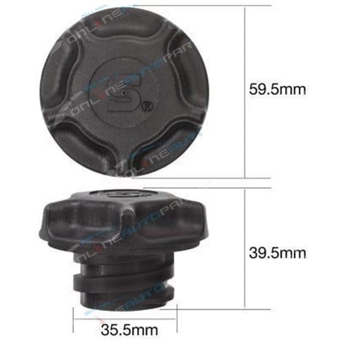 Tridon Engine Oil Filler Cap suits Kia Rio BC 4cyl 1.5L A5D 1493cc 2000 2001 2002 2003 2004 2005
