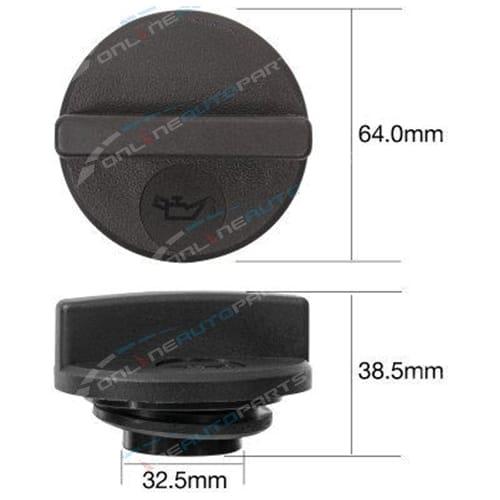TOC525 - Engine Oil Cap Plastic screw (coarse thread) - Tridon