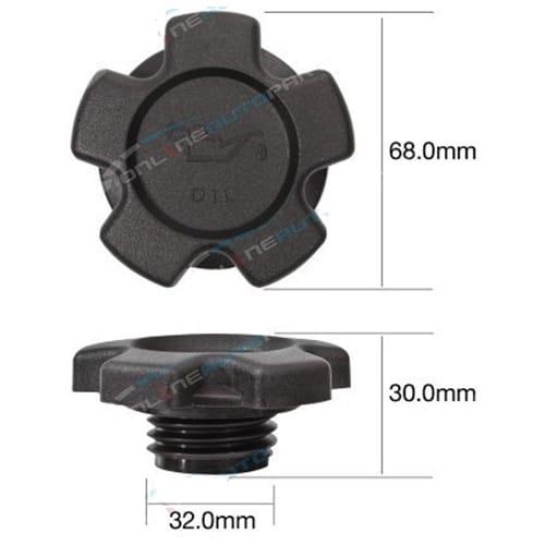 TOC512 - Engine Oil Cap Plastic screw (fine thread) - Tridon