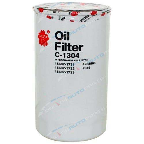 Sakura Oil Filter suits Toyota Dyna XZU414 XZU424 XZU434 XZU404 4.6L Engine