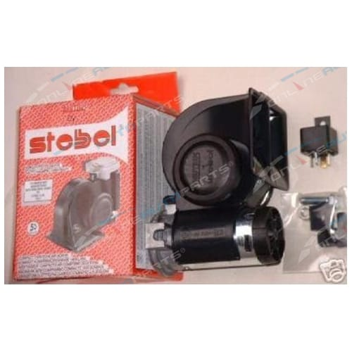 Car Air Horn Kit 12 volt Stebel Nautilus Black Brand New Electric Loud 139dB with Relay